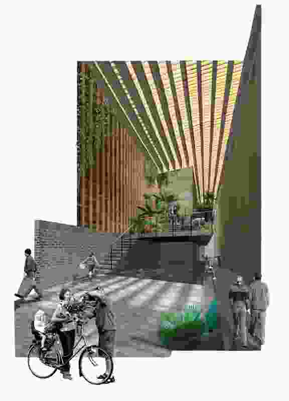 QVM Urban Farmers' Network and Memorial Projects, entry by Jacqui Alexander, Architect.