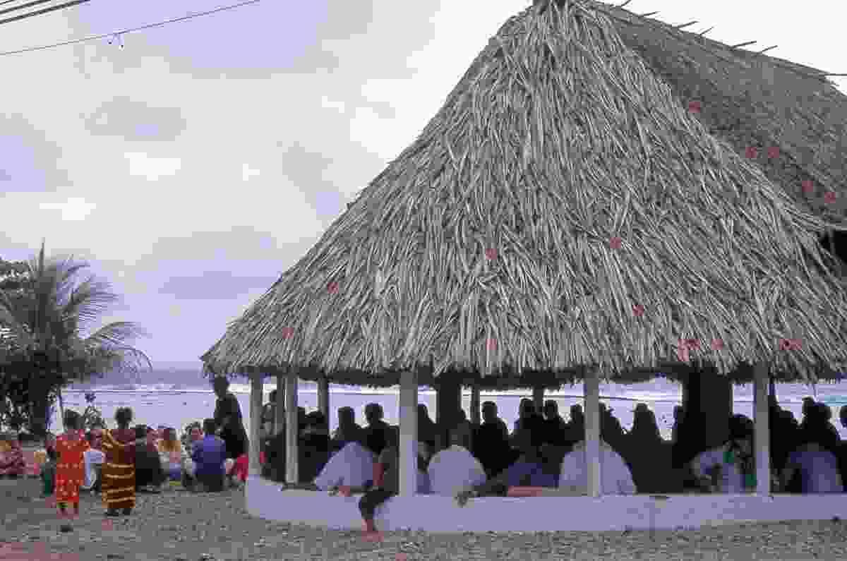 A community fale in Futuna.
