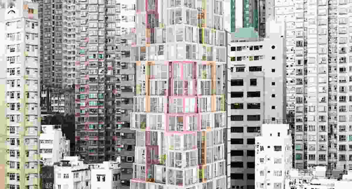 Towers within a Tower by Kwong Von Glinow brings Hong Kong's urban verticality into the apartments themselves.