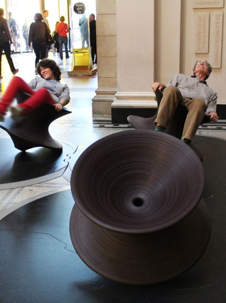 Designed for fun, Spun Chair is moulded in a single symmetrical form.