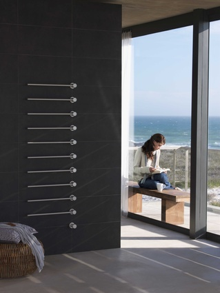 T39, Vola's built-in modular heated towel rail.