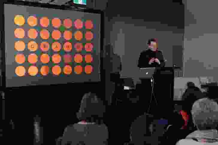 TOP 5 X 5 speaker Ian Wong talks up orange at the Zenith showroom.