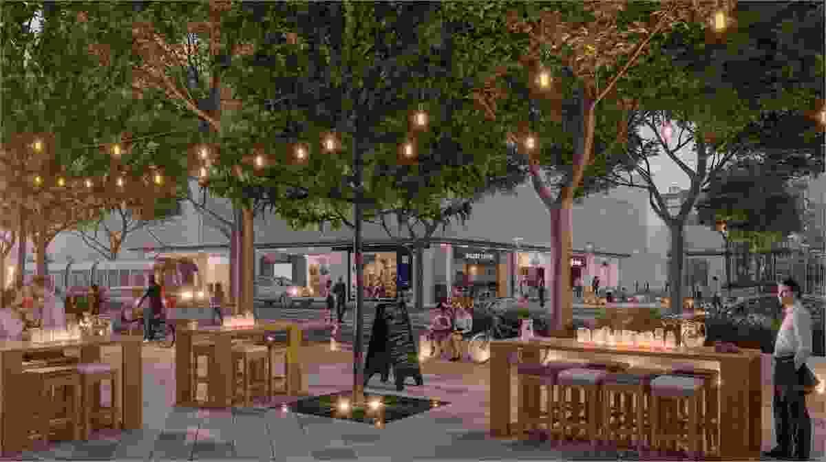 K2K proposal – Kensington Boulevard by Coda Architecture and Urban Design, Realm Studios Landscape Architecture, and GTA Transport consultants.