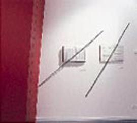 Black steel bars pin the Gedenkbuch and the score for Schönberg's Moses and Aron to the walls of the Jewish Museum of Melbourne; both works were key to Libeskind's Jewish Museum at the Berlin Museum.