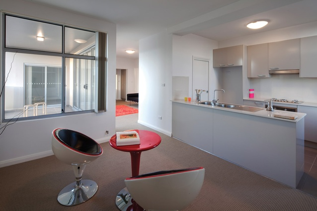 Details of show home apartment interiors for Dutton Street.