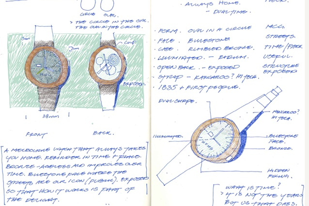 A sketch of the Melbourne Watch by Cox Architecture.
