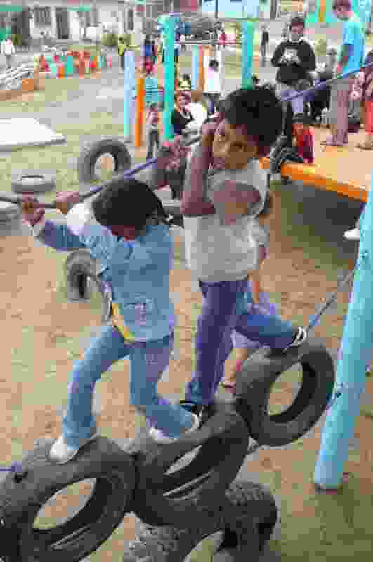 Children playing at Tupark.