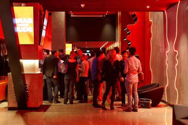 The VIP bar on the night of the soft opening.