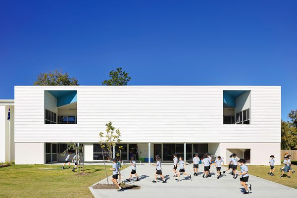 The design of St Ambrose Primary School includes a variety of carefully considered indoor and outdoor spaces for learning.