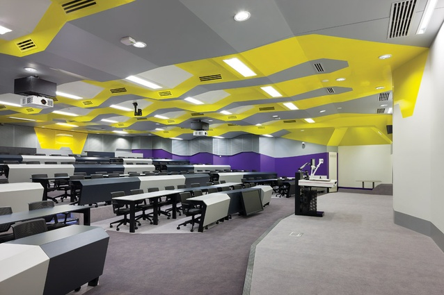 Each learning space offers up architectural diversity in terms of colour and configuration.