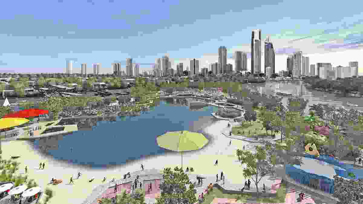 The proposed view from the Gold Coast Cultural Precinct to the city.