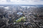 Bates Smart proposes stadium over rail yards at Sydney's Central Station
