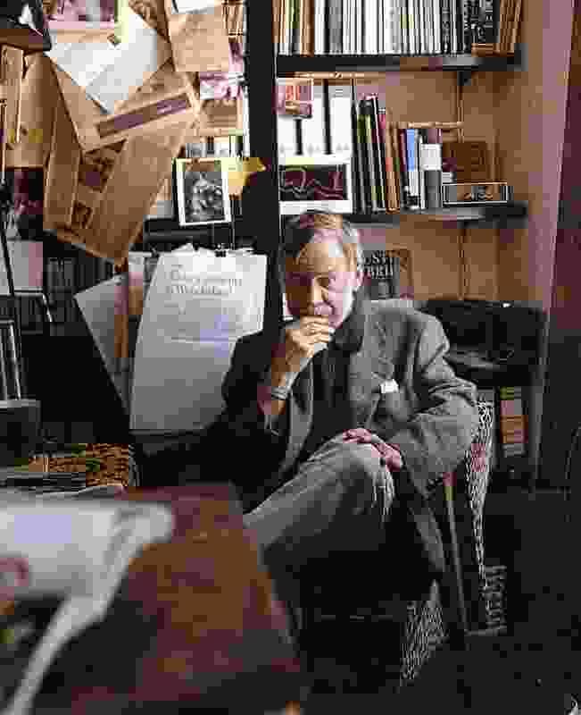 Peter Corrigan in his library.