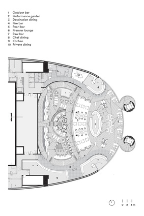 Plan of Sean Connolly at Dubai Opera by Alexander & Co with Tribe Studio Architects.