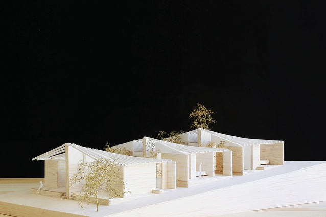 A model of Half a House, a project that was runner up in the NSW Government's Missing Middle Design Competition.