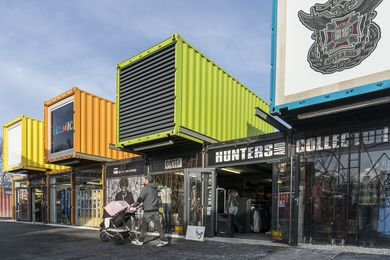 Re:Start, a temporary retail complex in Christchurch, New Zealand is the inspiration for a possible pop-up shipping container court facility in Canberra.