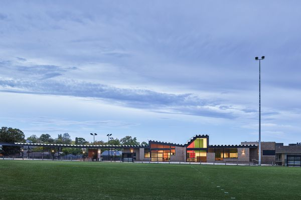 Balwyn Park Tennis and Community Facility by MGS Architects.