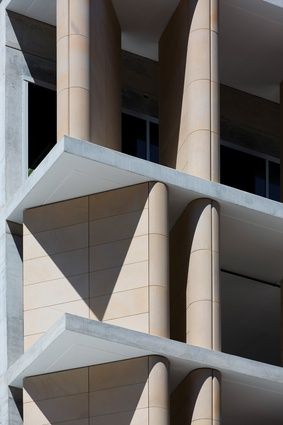 "The facade of the AHL Headquarters in Sydney displays a similar ""compositional finesse"" to that of QT Melbourne."