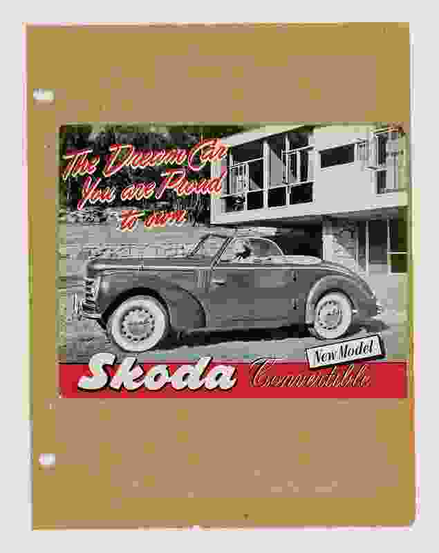 An advertisement for Skoda cars featuring the Rose Seidler House.