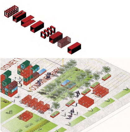 Container park, from the HTBI competition scheme.