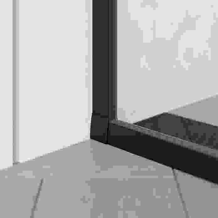 Grange Black inline shower screen jamb.