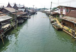 The Amphawa settlement in south-west Bangkok.