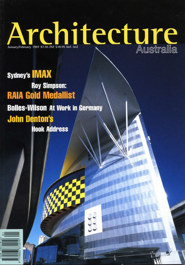 Architecture Australia, January 1997