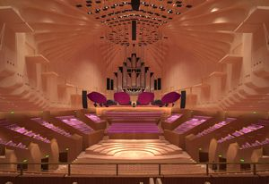 The refurbished Sydney Opera House concert hall.
