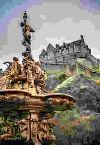 The Ross Fountain at West Princes Street Gardens.