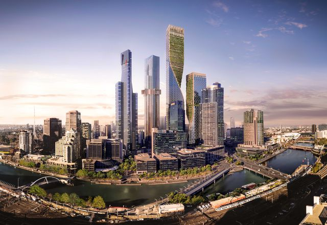 The revised design for Southbank by Beulah, designed by UN Studio and Cox Architecture.