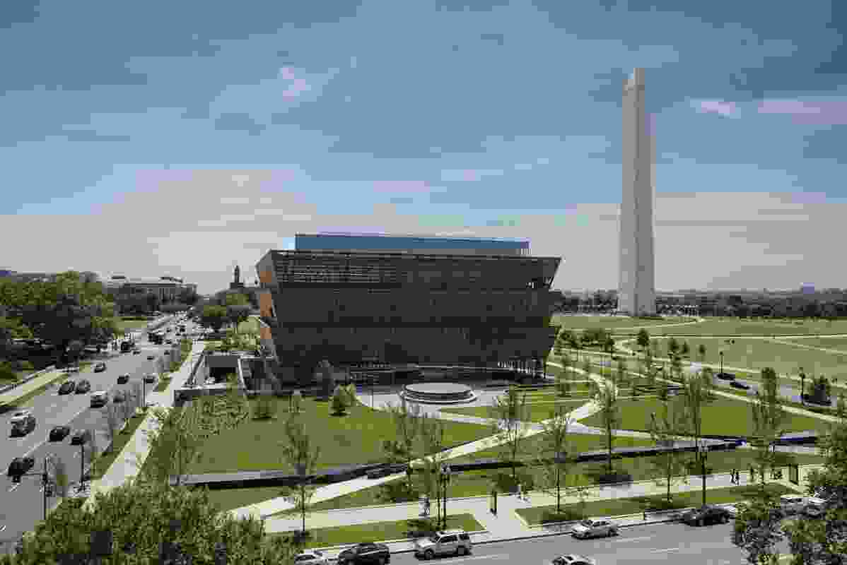 GGN (Gustafson Guthrie Nichol) designed the landscape for the National Museum of African American History and Culture in Washington, DC.