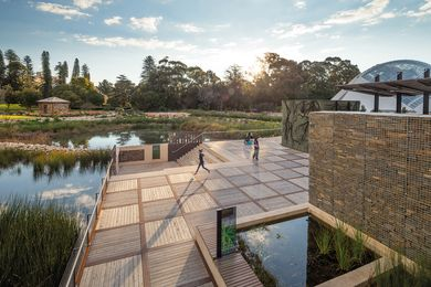 Adelaide Botanic Garden First Creek Wetland by TCL.