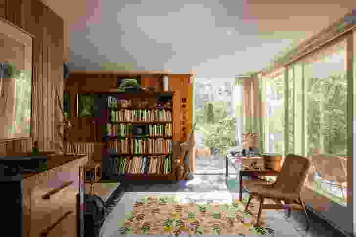 When a second child was born, the owners enclosed the carport to become a sunroom, with a new bedroom above.