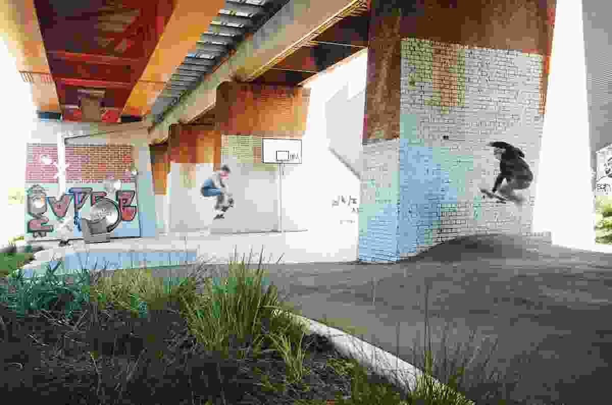 Clifton Hill railway project landscape by Jeavons Landscape Architects.