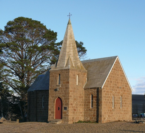 Christ Church in Cooma, New South Wales designed by Bishop Broughton and constructed in 1845–50.