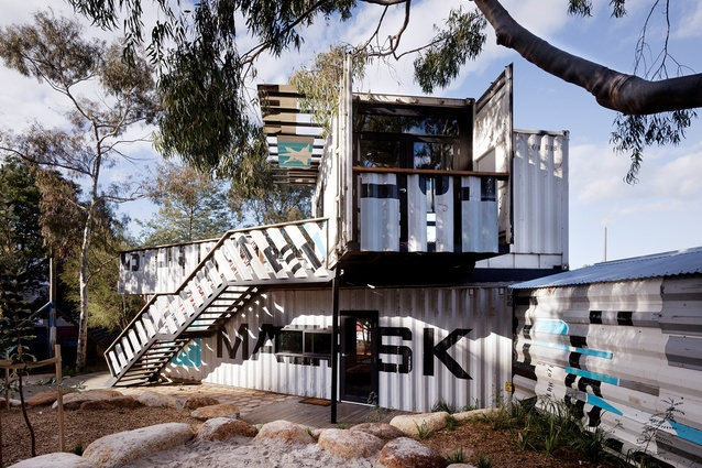 Phooey Architects Skinners Children's Activity Centre : buildings built from salvaged shipping containers.