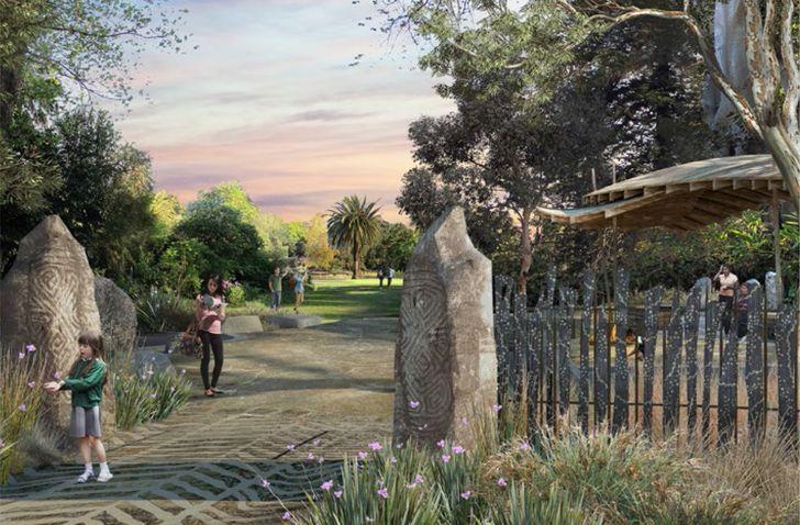 A new Birrarung gate in the Royal Botanic Gardens masterplan.