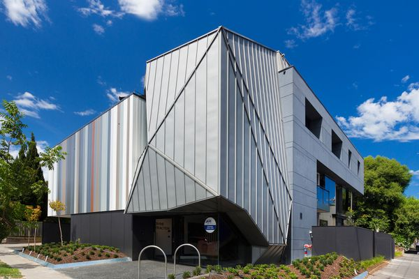 The Justin Art House Museum is located in a converted apartment block on a corner site in the inner Melbourne suburb of Prahran.