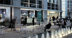 Retail tenancies animate the assembly space.  Image: Richard Glover