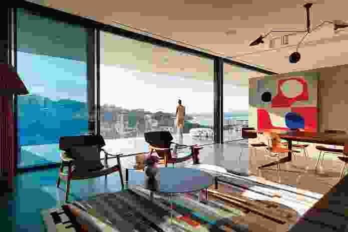 Harbour vistas, a backdrop to family life. Artwork: Stephen Ormandy.