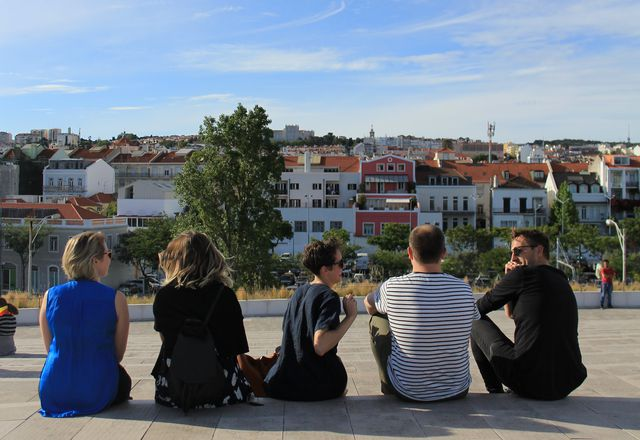 The 2019 Australian Institute of Architects Dulux Study Tour winners in Lisbon.
