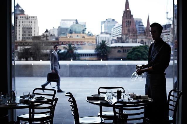 Trocadero looks across the Yarra to Flinders Street.