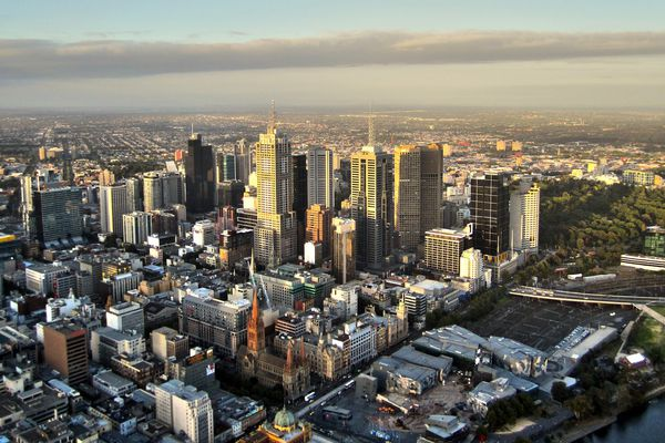 The city of Melbourne.