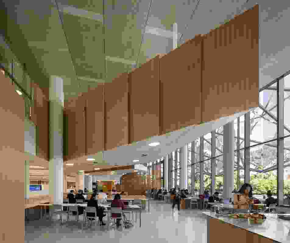 Monash University Caulfield Library Refurbishment by John Wardle Architects.