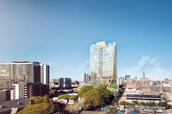 Proposed office tower at 301 Wickham Street, Brisbane by BVN.