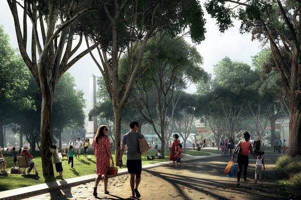 Albert Road Reserve by Hassell.