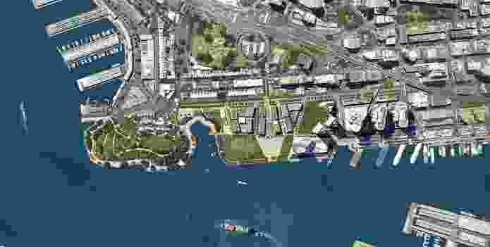 Masterplan of Barangaroo development.