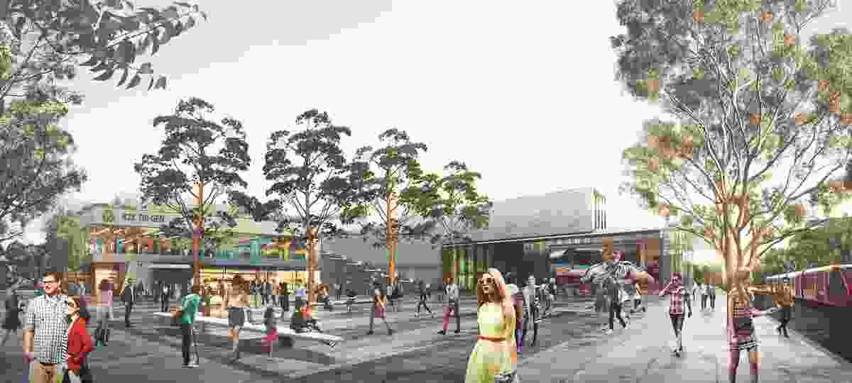 K2K proposal – Arts Quarter at UNSW and NIDA by Aspect Studios Urban Design and Landscape Architecture, SJB Architects and Urban Design, Terroir Architecture and Urban Planning and SGS Economics andPlanning.