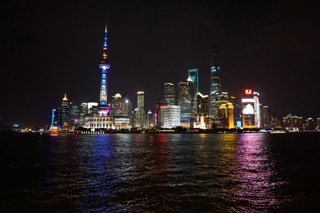 The Pudong district of Shanghai.