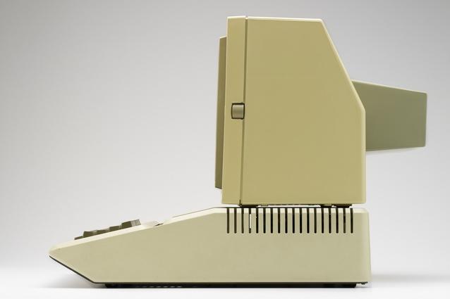Apple II computer (1977) designed by Steve Wozniak and Jerry Manock.